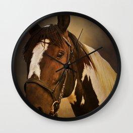 Paint Horse Portrait Wall Clock