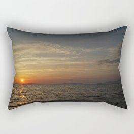 Sunset and Mountains Rectangular Pillow