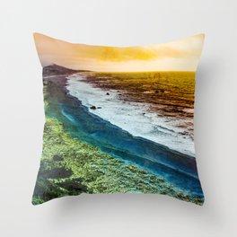 Rainbow Beach Throw Pillow