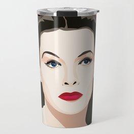Hedy Lamarr portrait Travel Mug