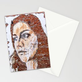 Painted women's face  Stationery Cards
