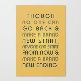 Brand New Ending Canvas Print