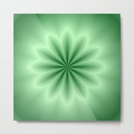 Green Abstract Star Metal Print