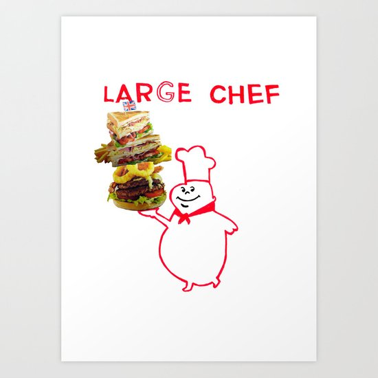 large chef Art Print