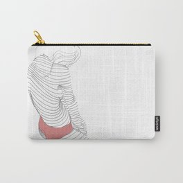 line drawing of a beautiful muse Carry-All Pouch
