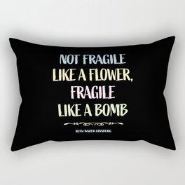 RBG - Fragile Like a Bomb Rectangular Pillow