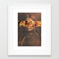 native Framed Art Prints featuring Native by Djuno Tomsni