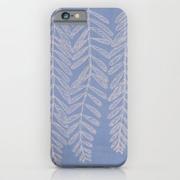 You Can't Kill Me Plants Blue and Cream iPhone Case