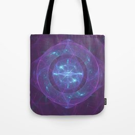 Blue Eye of the Purple Dragon Tote Bag