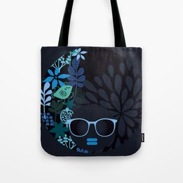 Afro Diva : Sophisticated Lady Teal Tote Bag