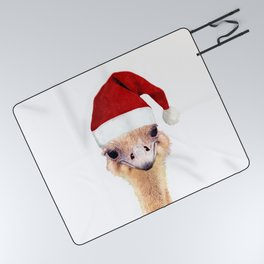 Ostrich Christmas Picnic Blanket
