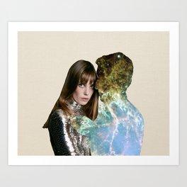 jane and serge space Art Print