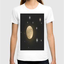 Moon is on T-shirt