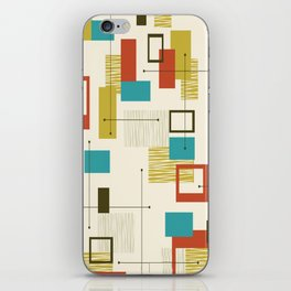 Mid Century Modern, Sputnik Pattern iPhone Skin