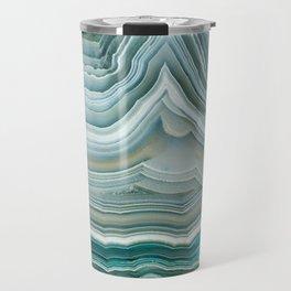 Agate Crystal Blue Travel Mug