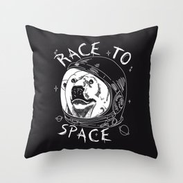 Race to space Throw Pillow