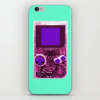 gameboy iPhone & iPod Skins featuring The Gameboy by Karachameleon