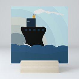 Ocean Liner Mini Art Print