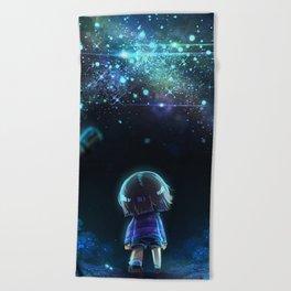 802d288c77e8 Starry (Night) Undertale Beach Towel