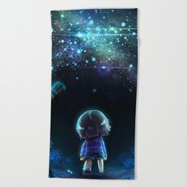 Starry (Night) Undertale Beach Towel
