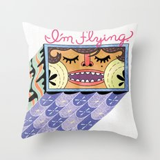 I'm Flying! Throw Pillow