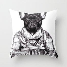 Astro Frog Throw Pillow