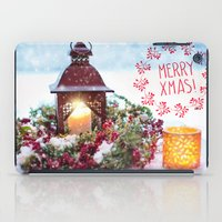 merry christmas iPad Cases featuring Merry Christmas by UtArt
