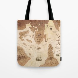 The Antlered Ship_Map Endpapers Tote Bag