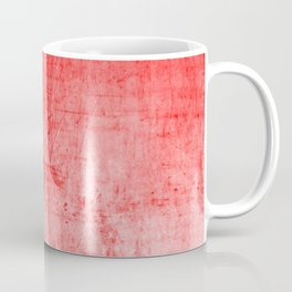 Distressed Coral Textured Canvas Coffee Mug