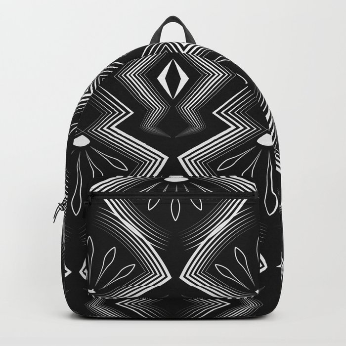 "Art Deco . Black and white pattern .""Constance "". Backpack"