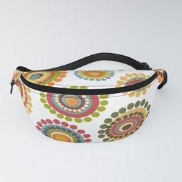 Vintage doodle flowers seamless pattern Fanny Pack