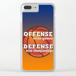 Winning philosophy for team sports Clear iPhone Case