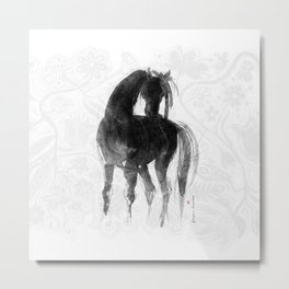 Horse (Little Black Mare) Metal Print