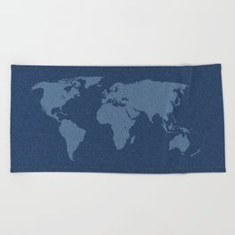 Denim Map Beach Towel