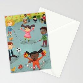 New York Fall Playground Stationery Cards