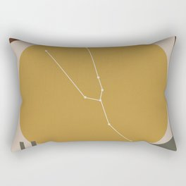 TAURUS (MID-CENTURY MODERN ART) Rectangular Pillow
