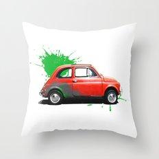 Italia - Fiat 500 retro Throw Pillow