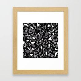 Terrazzo Spot Black 2 Framed Art Print