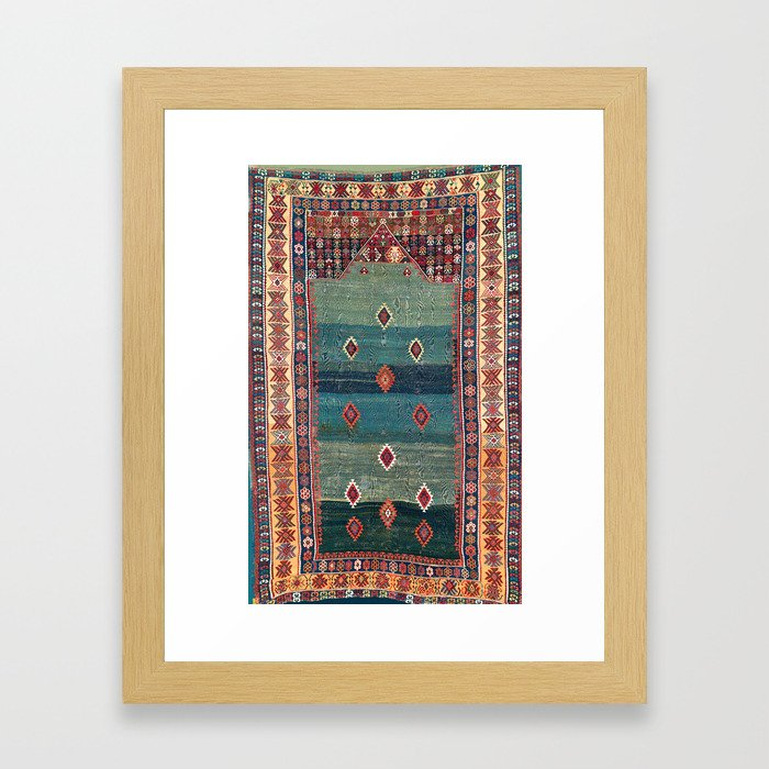 Sivas Antique Turkish Niche Kilim Print Framed Art Print