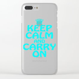 """""""Keep Calm Carry On"""" for chill and cool persons like you! Cutie gift too for friends and family!  Clear iPhone Case"""