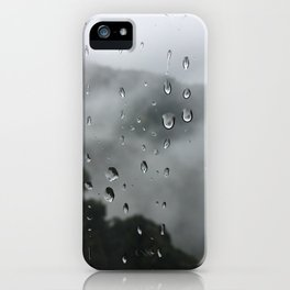 Raindrops on the window iPhone Case