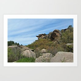 Rocky Canyon Art Print