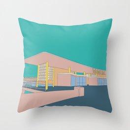 Boscombe Pier Throw Pillow
