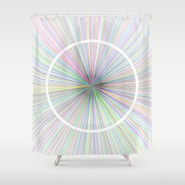 #14 Rays Shower Curtain