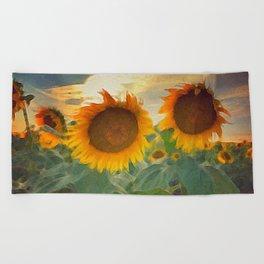 favorite sunset view Beach Towel