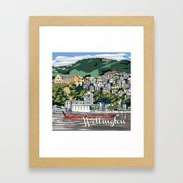 Wellington Harbour, NZ Framed Art Print
