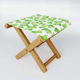 Watercolor Cacti Folding Stool