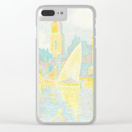 """Paul Signac """"St. Tropez The Port (Saint-Tropez Le port)"""" Clear iPhone Case"""