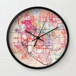 Riverton map Utah UT Wall Clock