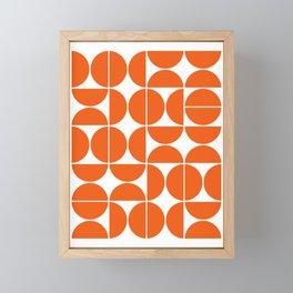 Mid Century Modern Geometric 04 Orange Framed Mini Art Print